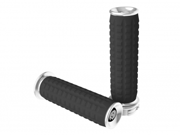 Roland Sands Design 0063-2067-CH TRACTION GRIPS chrome фото 1645